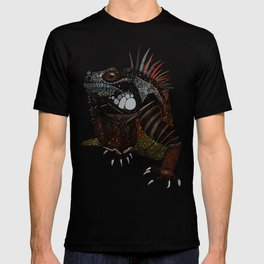 iguana blue T-shirt