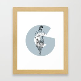 G is from Genie Framed Art Print