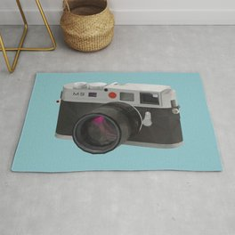 Leica M9 Camera polygon art Rug