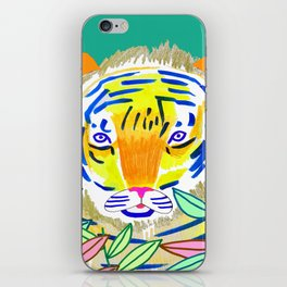 Tiger in Bushes. iPhone Skin