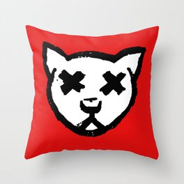 Dead Cat Icon Throw Pillow