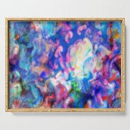 psychedelic color wash Serving Tray