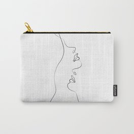 Lovers - Minimal Line Drawing Art Print4 Carry-All Pouch