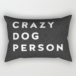 Extra Crazy Dog Person blk Rectangular Pillow