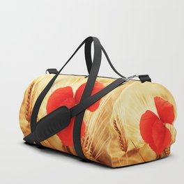 Poppies in the cornfield Duffle Bag