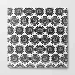Circle takes Square Metal Print