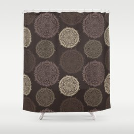 floral seamless texture, endless pattern with flowers looks like retro snowflakes or snowfall. Shower Curtain