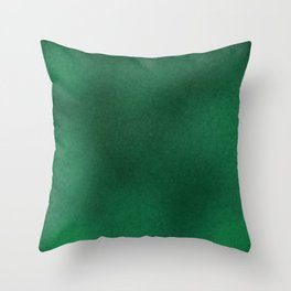 Color gradient and texture 62 dark green Throw Pillow