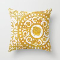 damask Throw Pillows featuring Damask by studioDarcy