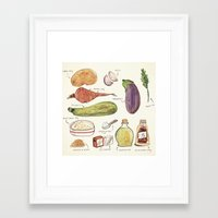 vegetables Framed Art Prints featuring Vegetables by Juliana Cuervo