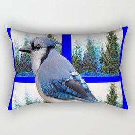 MOUNTAIN BLUE JAY SCENIC ART Rectangular Pillow