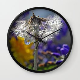 wet weed 1 Wall Clock