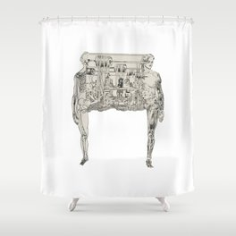 Anatomy of a an artist Shower Curtain