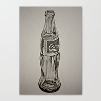 coca cola Canvas Prints featuring Coca-Cola by Lily Patterson