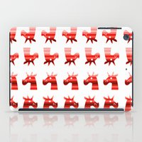 unicorns iPad Cases featuring Peppermint Unicorns by That's So Unicorny
