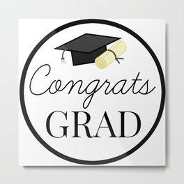 Congrats Grad - congratulations for Graduation Metal Print