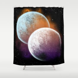 Together forever - Planets Shower Curtain