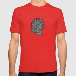 Abstract head profile T-shirt