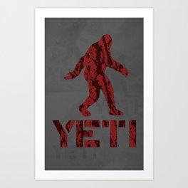 Yeti Red Tiger Camo Art Print