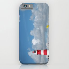 Happisburgh Lighthouse surrounded by Yellow flowering Oil Seed Rape iPhone Case