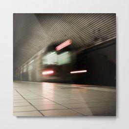 Warp Tunnel Metal Print