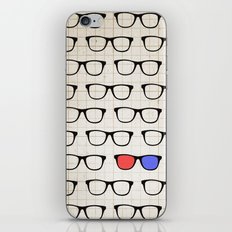 3D Hipster iPhone Skin