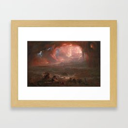 John Martin, The Destruction of Pompei and Herculaneum 1822, restored 2011 Framed Art Print