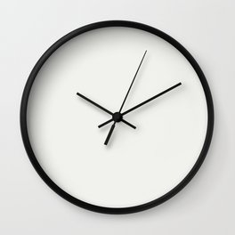 Neutral Off White Inspired by PPG Glidden Delicate White PPG1001-1 Solid Color Wall Clock