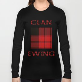 Clan Ewing Tartan Long Sleeve T-shirt