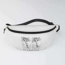 BE CREATIVE - Funny Dachshund Dog Illustration Fanny Pack