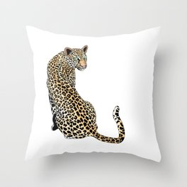 Mrs. Leopard Pillow Throw Pillow