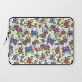 Colourful Butterfly's in a Spring Garden Laptop Sleeve