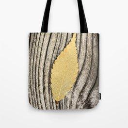 leaves wood texture Tote Bag