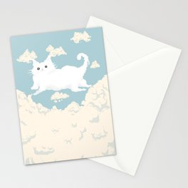 Cat Cloud Stationery Cards