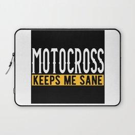 Motocross Lovers Gift Idea Design Motif Laptop Sleeve