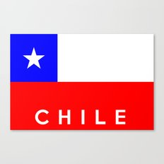 Chile country flag name text Canvas Print