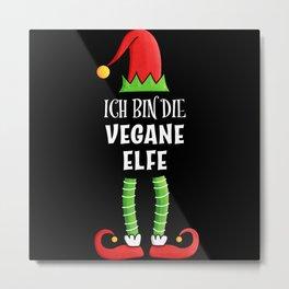 Vegane Elfe Partnerlook Weihnachten Metal Print