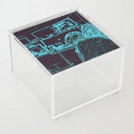 9-1-1 blue Acrylic Box