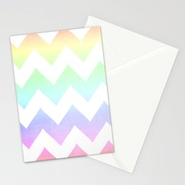 Watercolor Chevrons Stationery Cards