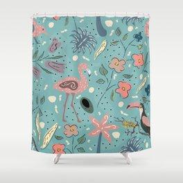 Cute Birds Shower Curtain