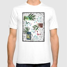 Through the jungle web MEDIUM Mens Fitted Tee White