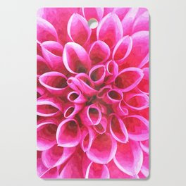 Dahlia Macro Illustration Cutting Board