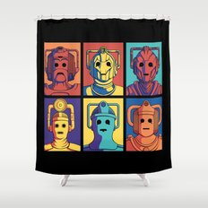 Cyberpop Evolution Shower Curtain