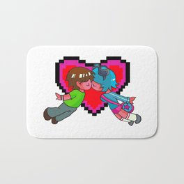 Scott Pilgrim + Ramona Flowers 8-bit Heart Bath Mat