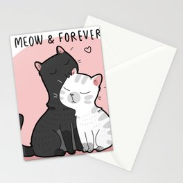 Meow and Forever Stationery Cards