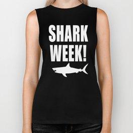 Shark week (on black) Biker Tank