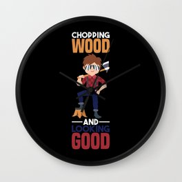 Lumber Jack Shirt forestry sawdust gift Wall Clock