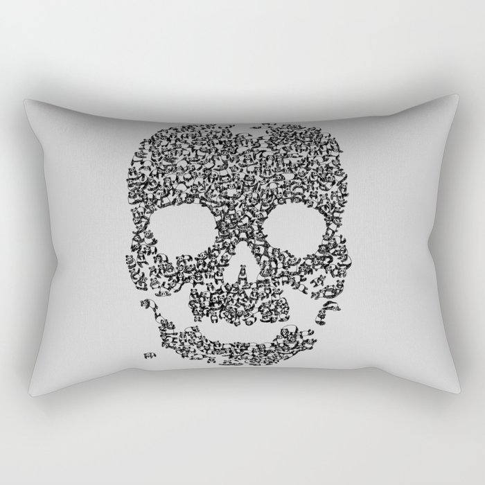Panda is Cool (Grey) Rectangular Pillow