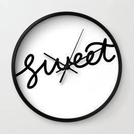 Sweet Black Text Wall Clock