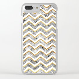2017 NEW Gold Chevron Clear iPhone Case